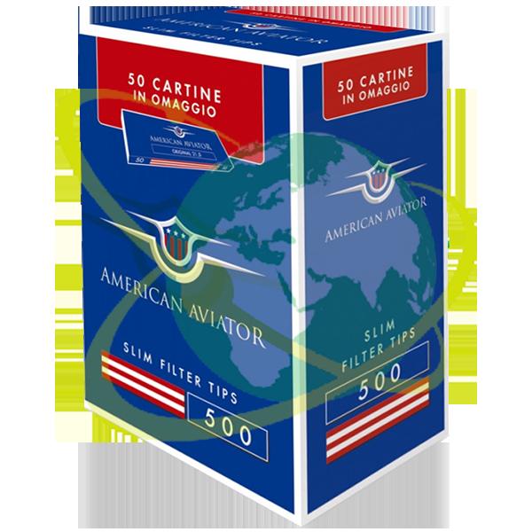 American Aviator filtro slim ruvido - Mondo del Tabacco