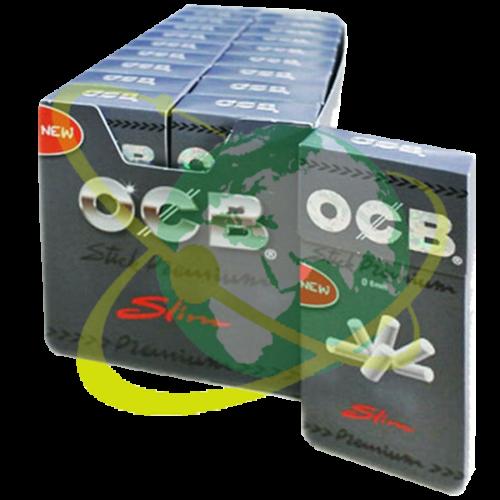 OCB filtro slim ruvido Silver - Mondo del Tabacco
