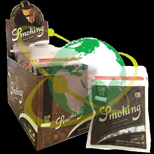 Smoking filtro slim Brown - Mondo del Tabacco
