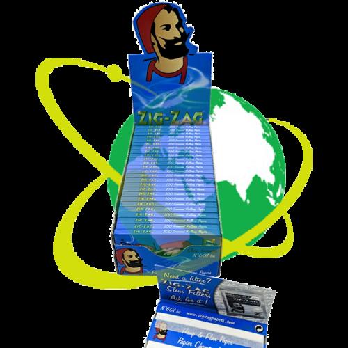 Zig-Zag cartina Blu doppia - Mondo del Tabacco